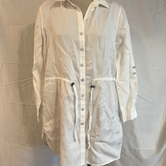 Coldwater Creek Jackets & Blazers - Coldwater Creek White Jacket Size Large